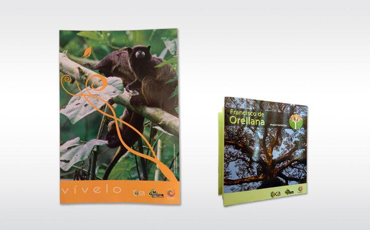 Diseño y diagramación de material publicitario para promover el turismo en El Coca. Material impreso y merchandising.