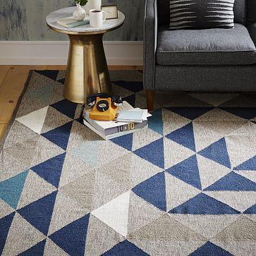 Framed Triangles Wool Kilim Rug #westelm