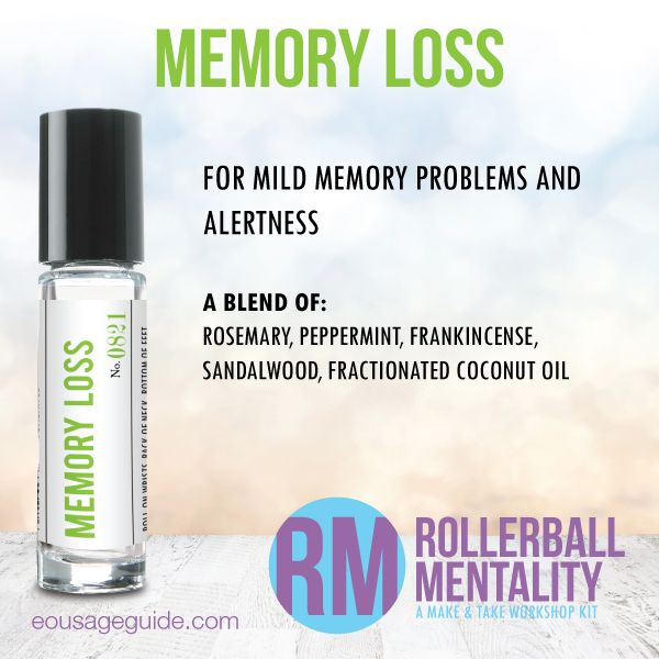 Memory Loss Rollerball Mentality Blend great for #memory #alertness