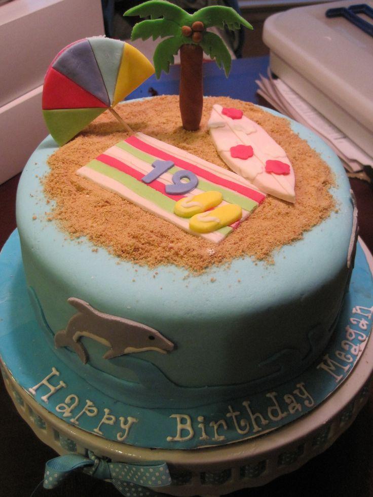 Beach Theme Birthday Cake Images