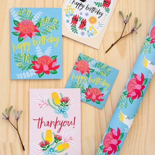 Happy Nature range of cards and wrapping paper by Earth Greetings #recycled #earthfriendlygreetingcards #birthdaycard #thankyoucard #wrappingpaper #australianmadegreetingcards #ecofriendlycards
