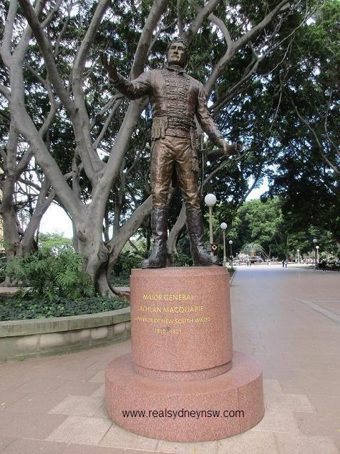 Governor Lachlan Macquarie memorial statue, Hyde Park.