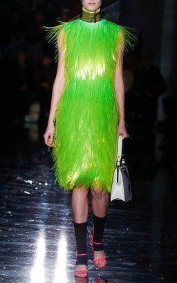 Neon Fringe Dress