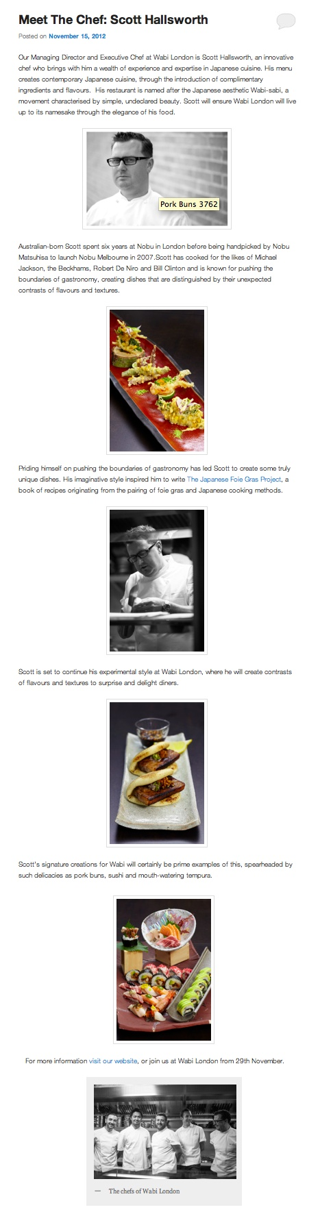 Meet The Chef: Scott Hallsworth