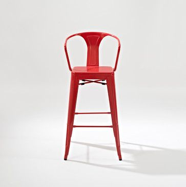 amelia metal cafe barstool with back red traditional bar stools and counter stools