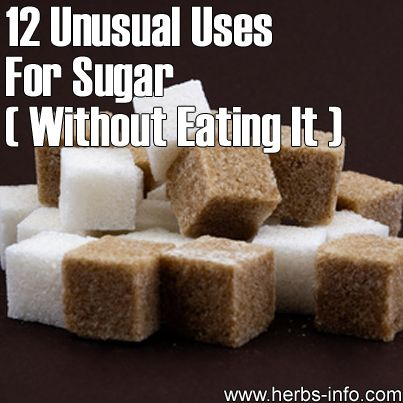 12 Unusual Uses For Sugar (Without Eating It)►►http://herbs-info.com/blog/12-unusual-uses-for-sugar-without-eating-it/?i=p