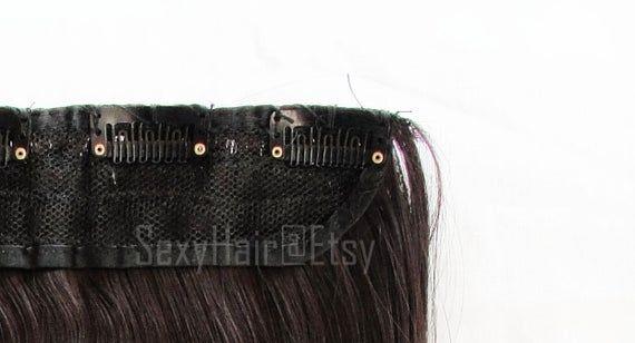 24″ Dark Brown Hair Extension, Brown Hair Extensions, Extensions, Hair Extensions, One Piece Multi-W