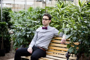A well deserved rest in the Golden Acre Garden Sentre. In style with Beau Tie.  http://www.mapleandoakdesigns.com