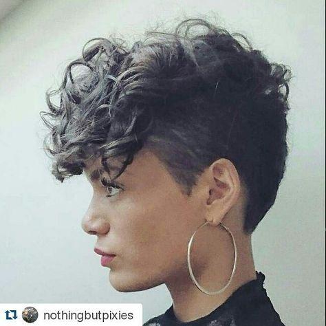 #fabulous #curlyhair #shorthair #hairstylists #creativecutsclothing