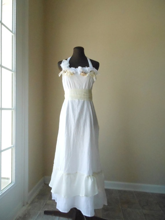 67 best images about wedding dress for b on pinterest for Simple cotton wedding dress