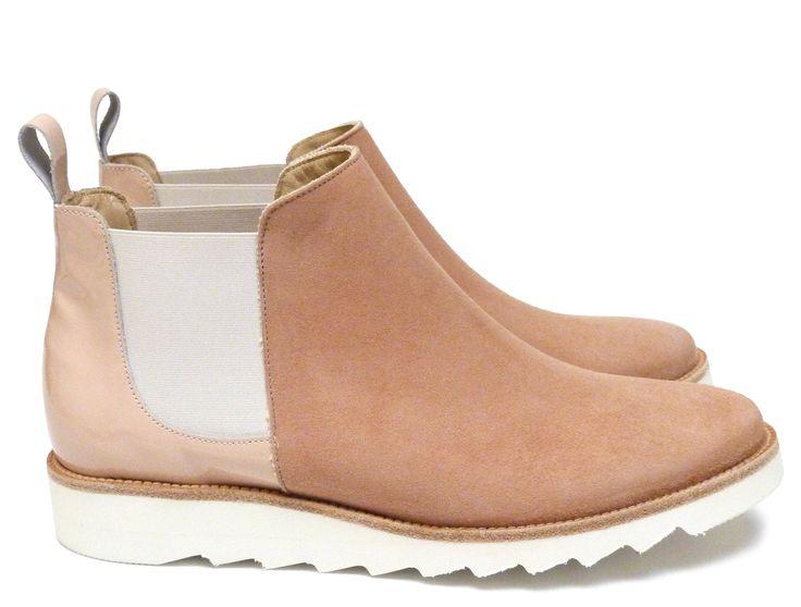 Chaussures Femme Boots Printemps Eté 2015 Maurice Manufacture BRENDA Chèvre velours nude - Verni nude