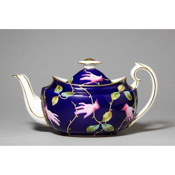 Teapot - Salvador Dali (entire set of china by Royal Crown Derby, England. 1938-39 commissioned by artist and patron of Surrealism, Edward James.