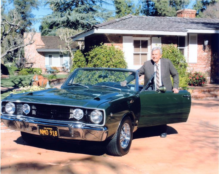 Mannix Actor Mike Connors With Dart In 2010 Dodge Dart