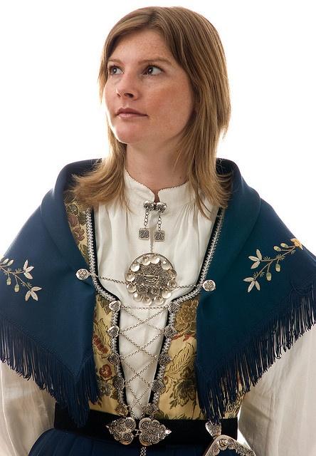 Norwegian bunad - the shawl is gorgeous!