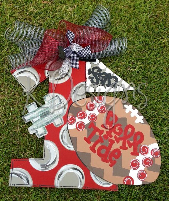 Sports door hanger  number one fan door sign  by paintchic on Etsy, $50.00
