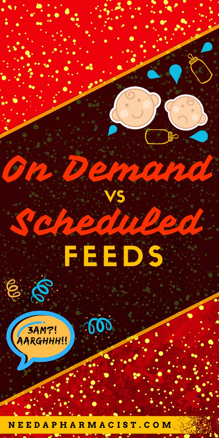 I also firmly believe that feeding on demand serves a very important purpose. Babies nutritional, immune and growth needs change daily. Feeding on demand ensures that you are able to efficiently meet the daily needs of your rapidly growing baby... Scheduled feeds on the other hand allow you to create a routine... which is better for you & your baby?