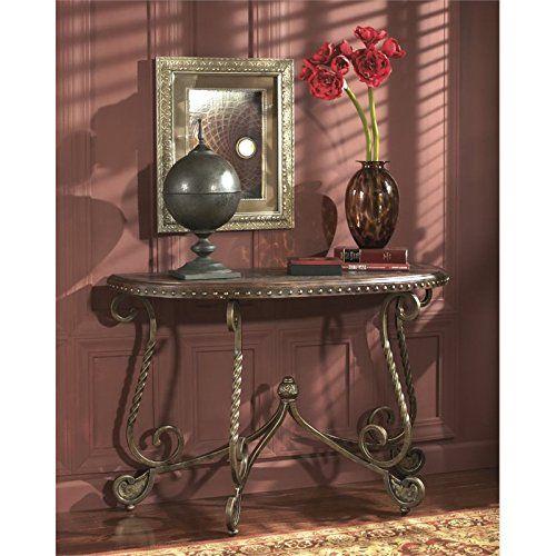 Signature Design By Ashley Right Arm Facing Rafferty Sofa Table Dark Brown  U003eu003eu003e Read