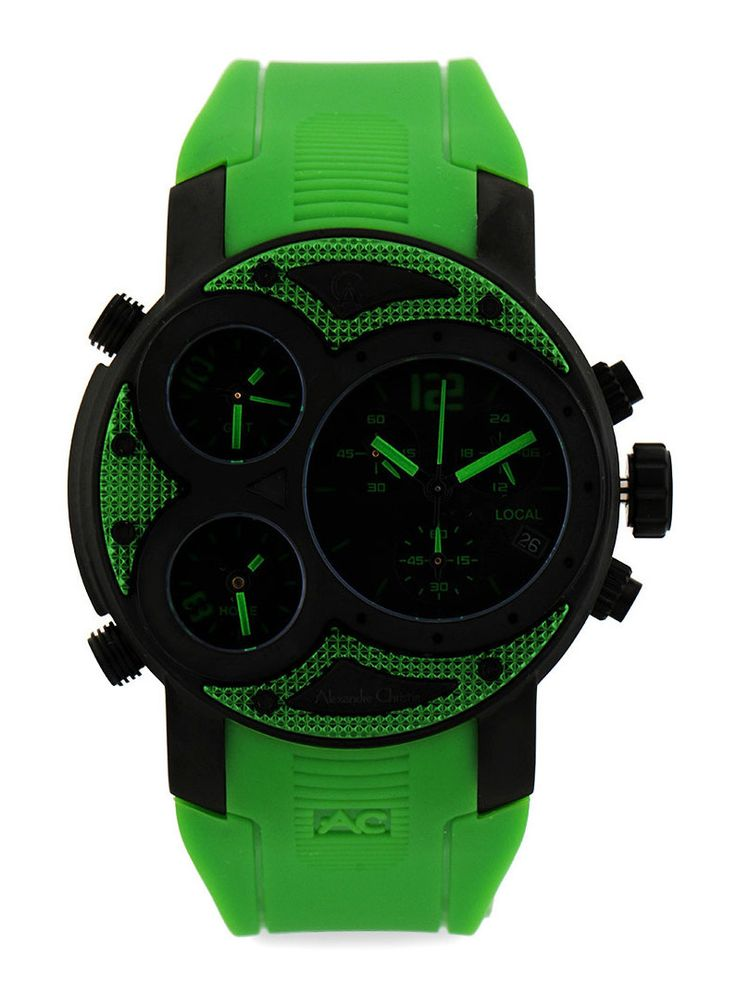 Acf6324 Mtripbagn Round Watch by Alecandre Christie. Clock modern design with contrasting colors cool. Simply fascinating! Analog watches with stainless steel case and has rubber material on its band.This sporty watches for your sport activities.   http://www.zocko.com/z/JJ3p0