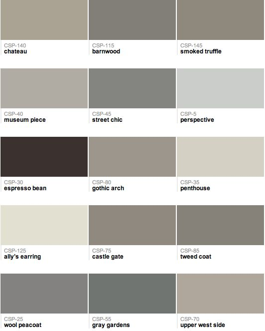 Gray love... Benny Moore grays from their Color Stories Collection
