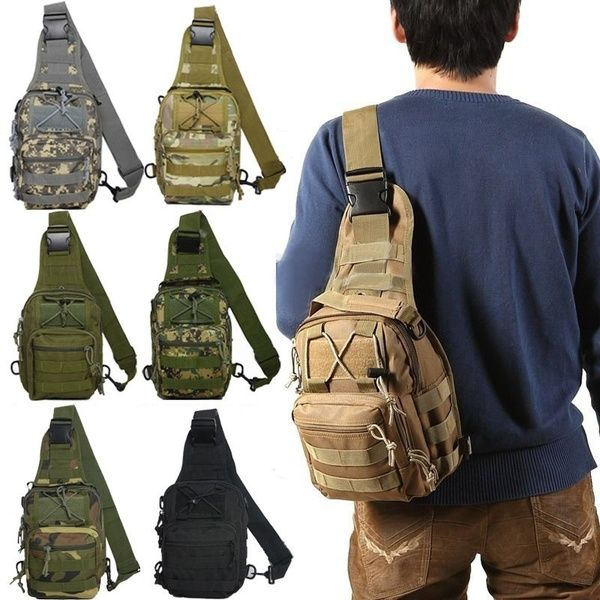 Military Tactical Army Messenger Shoulder Chest Sling Bag Outdoor Travel Sports