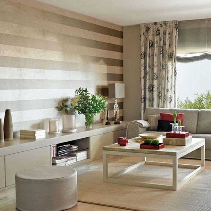 M s de 25 ideas incre bles sobre paredes a rayas verticales en pinterest dormitorio con - Pared pintada a rayas verticales ...