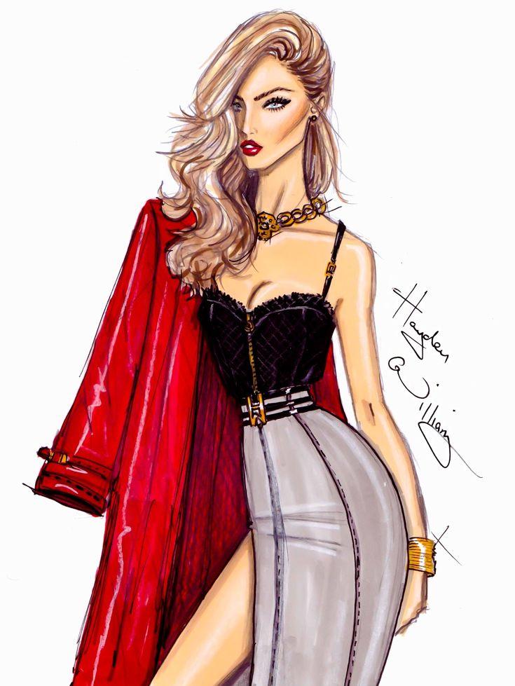 #Hayden Williams Fashion Illustrations  #Heartbreaker by Hayden Williams