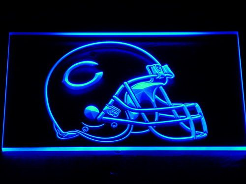 234 Chicago Bears Helmet Bar LED Neon Sign with On/Off Switch 7 Colors 4 Sizes to choose