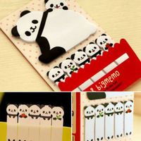 1x kawaii sevimli rastgele tarzı panda hayalet cat sticker göndermek imi etmektedir işaretleyici yapışkan notlar scrapbooking etiket kağıdı