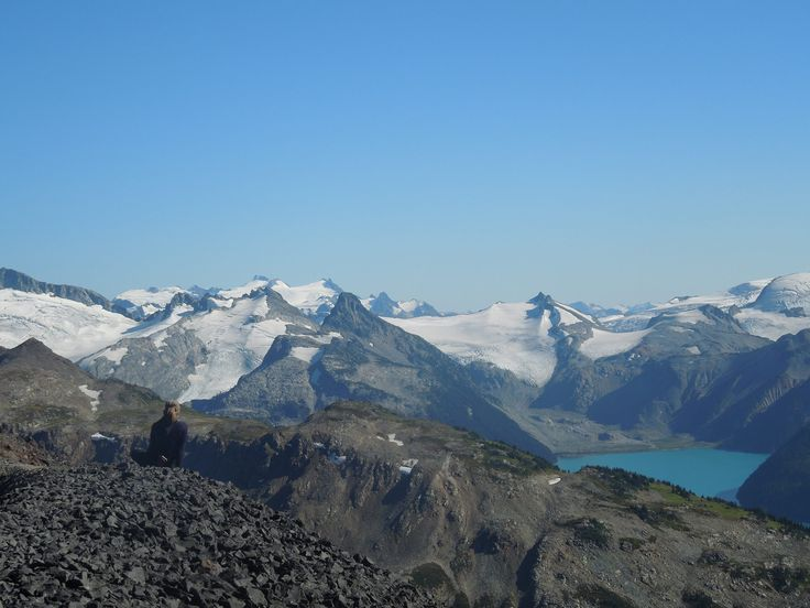 Soaking in theviews from the Black Tusk, September 2014