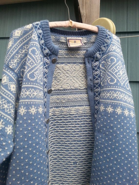 Dale of Norway baby blue nordic sweater woolen by idaboughtthat, $48.00