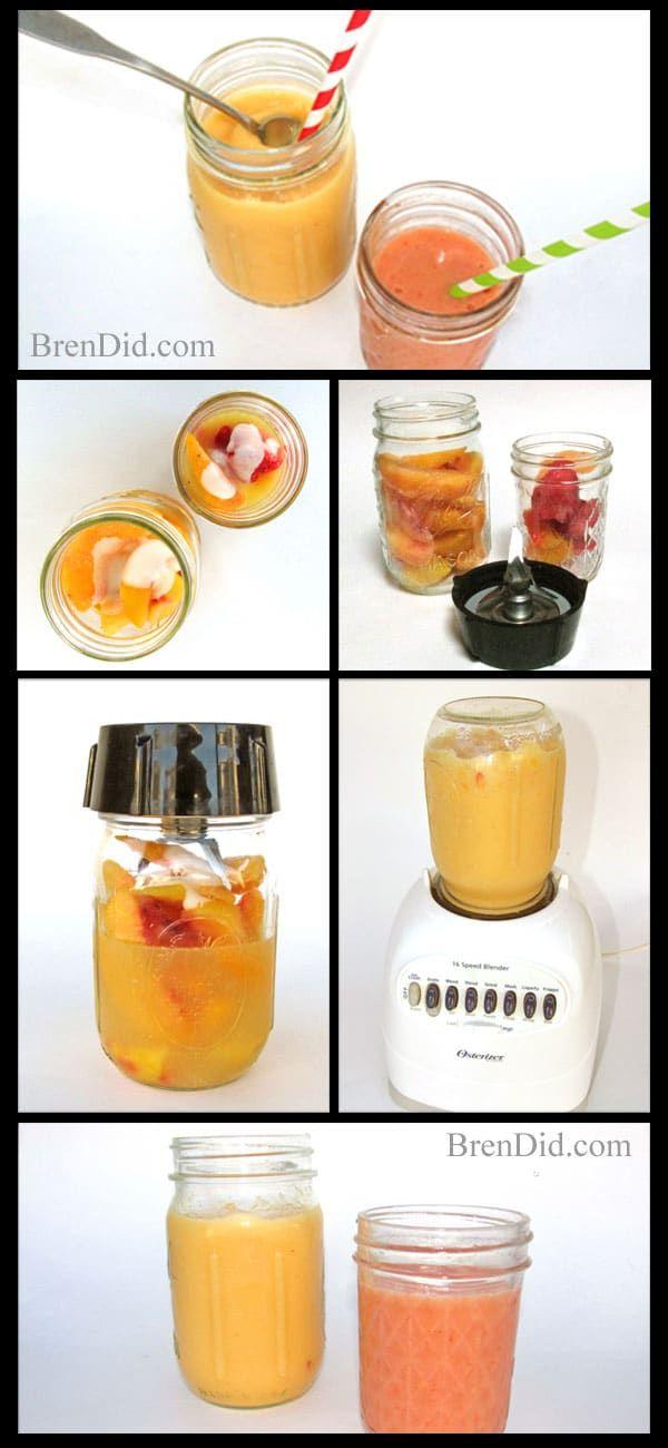 BrenDid-Smoothie-Collage: So macht man auf einfache Weise einen Smoothie ohne Mixer   – Homemade