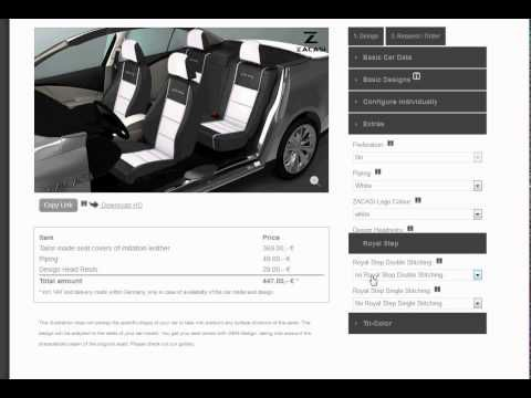 A tutorial video of our configurator.  #video #tutorial #configurator #seatconfigurator #zacasi #design #seatcover #seatstyler