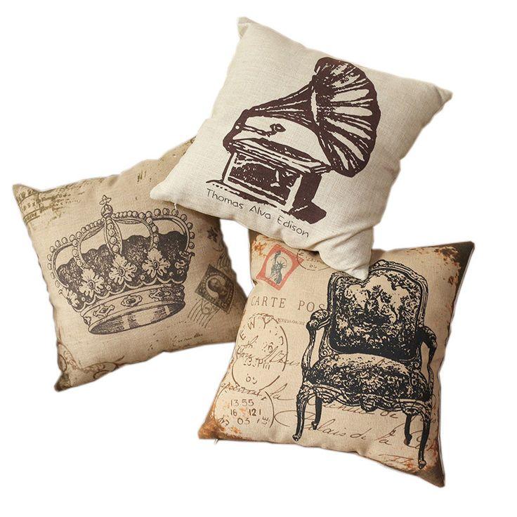 Винтажный стиль секционные диван постельных принадлежностей подушка чехол украшение дома хлопок белье смесь универсальный площадь 18' * 18 дюймов
