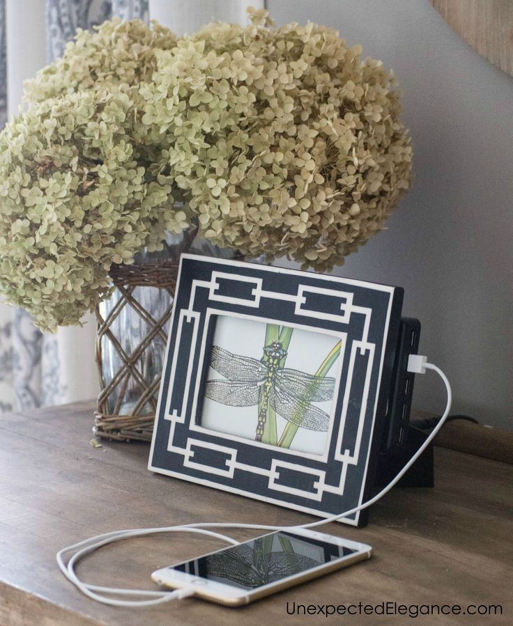 Are you tired of the mess of cords? Here's an EASY and quick DIY charging station that's not only functional but pretty too!