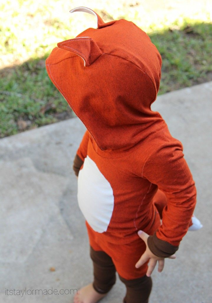 toddler fox costume diy