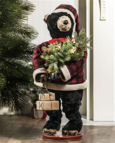 "When switched on, Balsam Hill's Dancing Musical Holiday Bear dances to the tune of ""Jingle Bell Rock""."