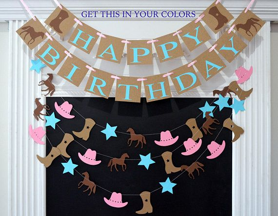 Hey, I found this really awesome Etsy listing at https://www.etsy.com/listing/522714159/cowgirl-birthday-party-decorations