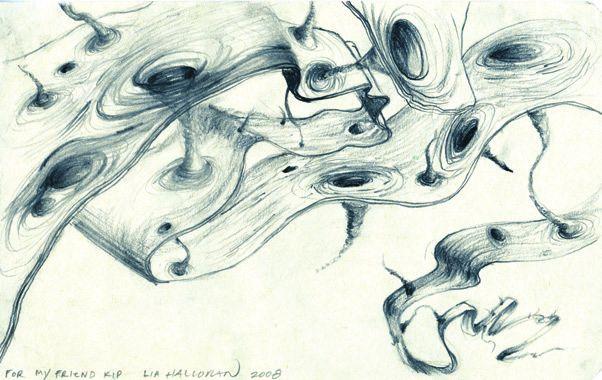 Так изобразила черные дыры и червоточины, проникающие из нашей браны в балк, художница Лия Хэллоран. Иллюстрация из книги «Интерстеллар»