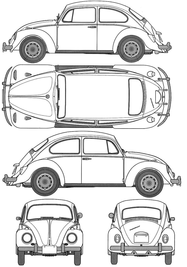 vw bug coloring page