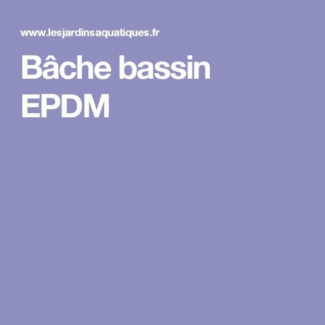 Bâche bassin EPDM