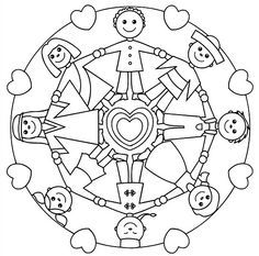 holding hands mandala for kids -http://glad.is/article/kids-mandala-coloring-pages/