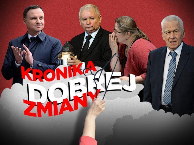 """ronika Dobrej Zmiany PIS: """"Do usranej śmierci"""" Jeśli ktoś jeszcze łudził się, że PiS i Jarosław Kaczyński chcą kompromisu w sprawie Trybunału, to w zeszłym tygodniu musiał pozbyć się wątpliwości. Partia rządząca wystawiła swojego kandydata do TK, mimo iż w kolejce czeka trójka legalnie wybranych sędziów z poprzedniej kadencji. Wysłuchanie owego sędziego, prof. Zbigniewa Jędrzejewskiego przed sejmową komisją sprawiedliwości zostanie zapamiętane głównie z obelg pod adresem opozycji....."""