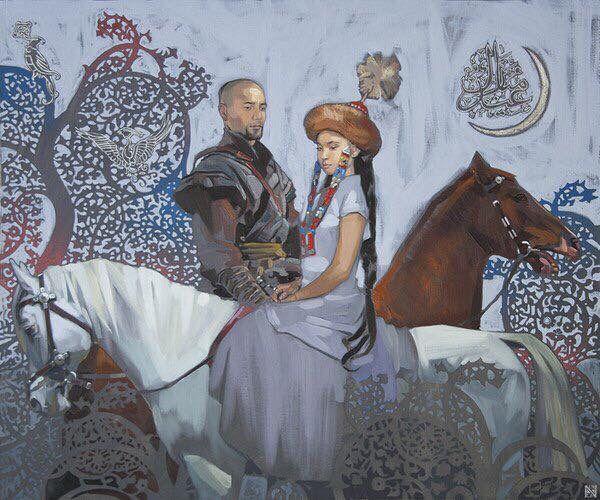 Kazakh painter Nurlan Kilibayev.