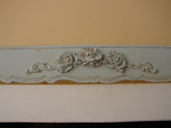 Large 55 French Shabby Chic Wooden Window Pelmet