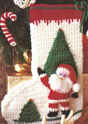 Festive Holiday Stocking Crochet Pattern (ePattern Download)