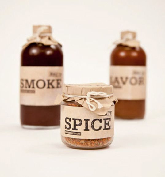 Vintage style BBQ sauce bottles. Classic, simple, rustic with a bit of zing - much like the sauce itself.