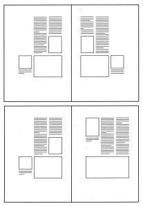 Disposizione delle colonne in gabbia simmetrica e asimmetrica