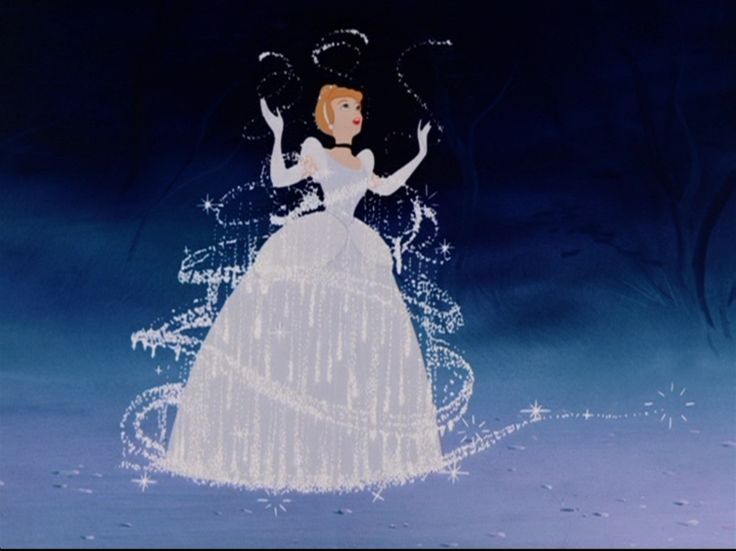 The shot of Cinderella's ragged dress being transformed into a ball gown was Walt Disney's personal favorite piece of animation from his films. Description from disney.wikia.com. I searched for this on bing.com/images