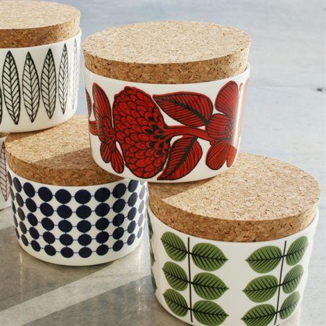 Cork topped jars