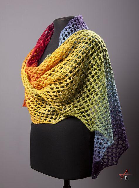Schal häkeln - crochet shawl - Free Pattern